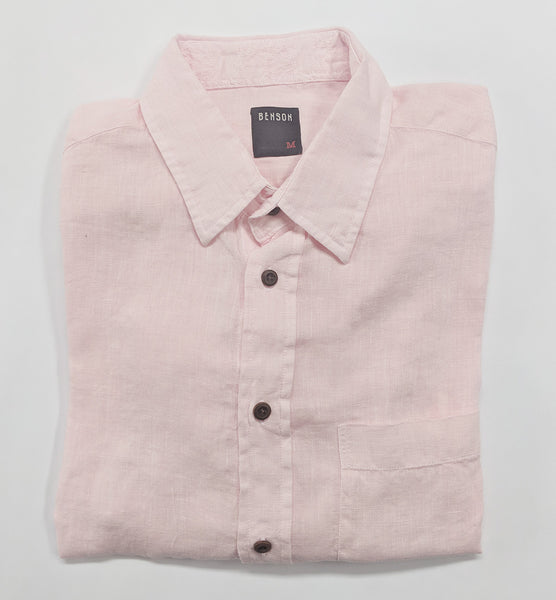 Short-Sleeve Linen Shirt