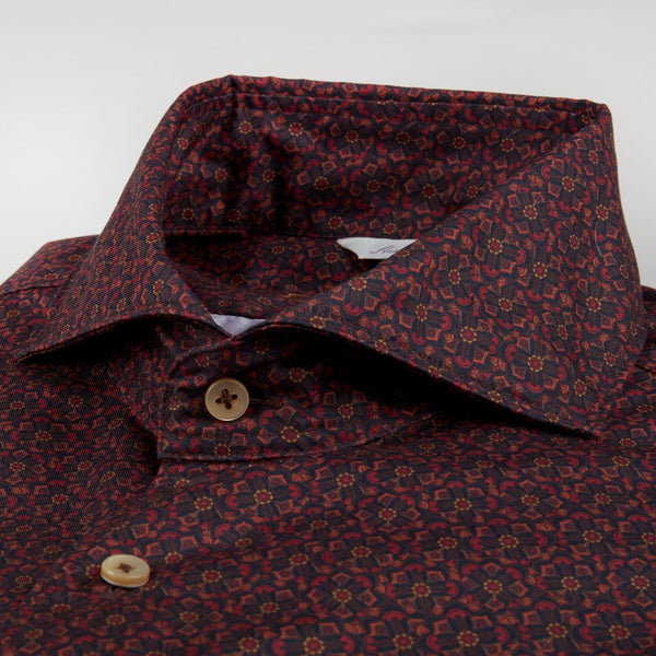 Fitted Body - Red Kaleidoscope Shirt