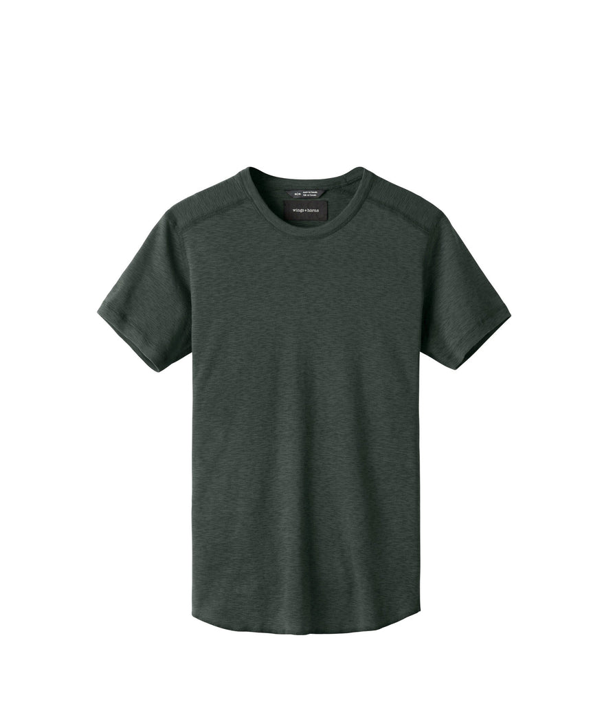 1x1 Slub Short Sleeve Shirt