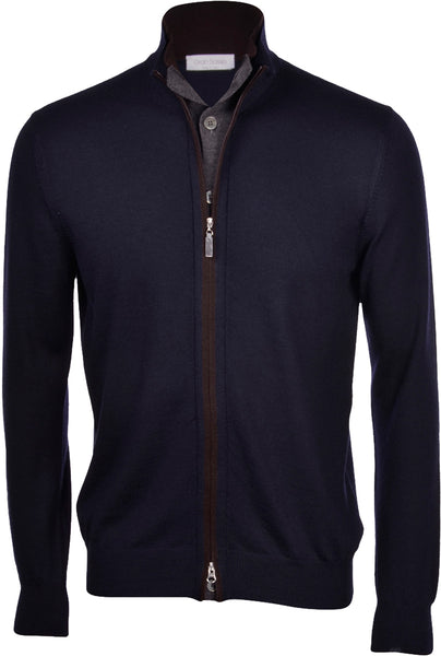 Full Zip Cardigan with Button Closure