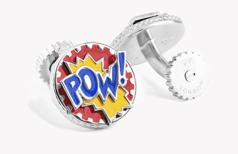 Rotating Pop Cufflinks - Powe & Ouch