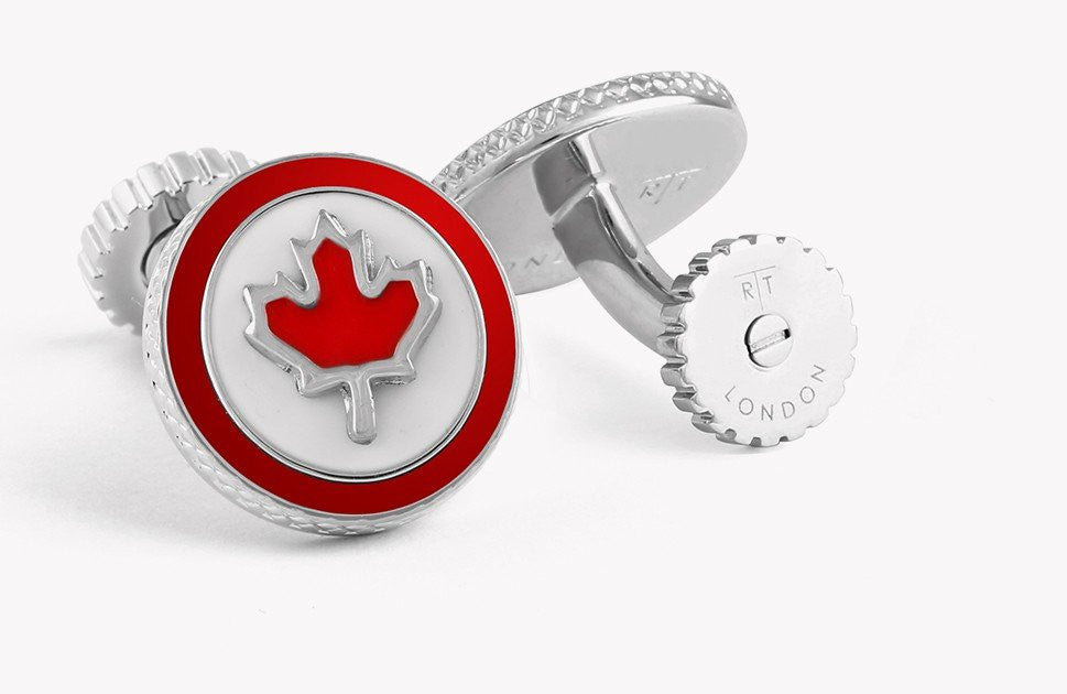 Canada Flag Rotating Cufflinks