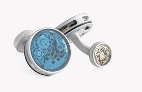 Skeleton Vintage Glass Limited Edition 17 Jewels Cufflinks