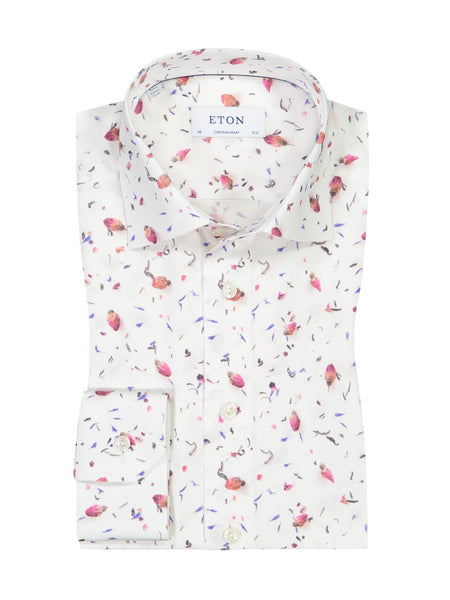 Contemporary Fit - Rose Bud Printed Shirt