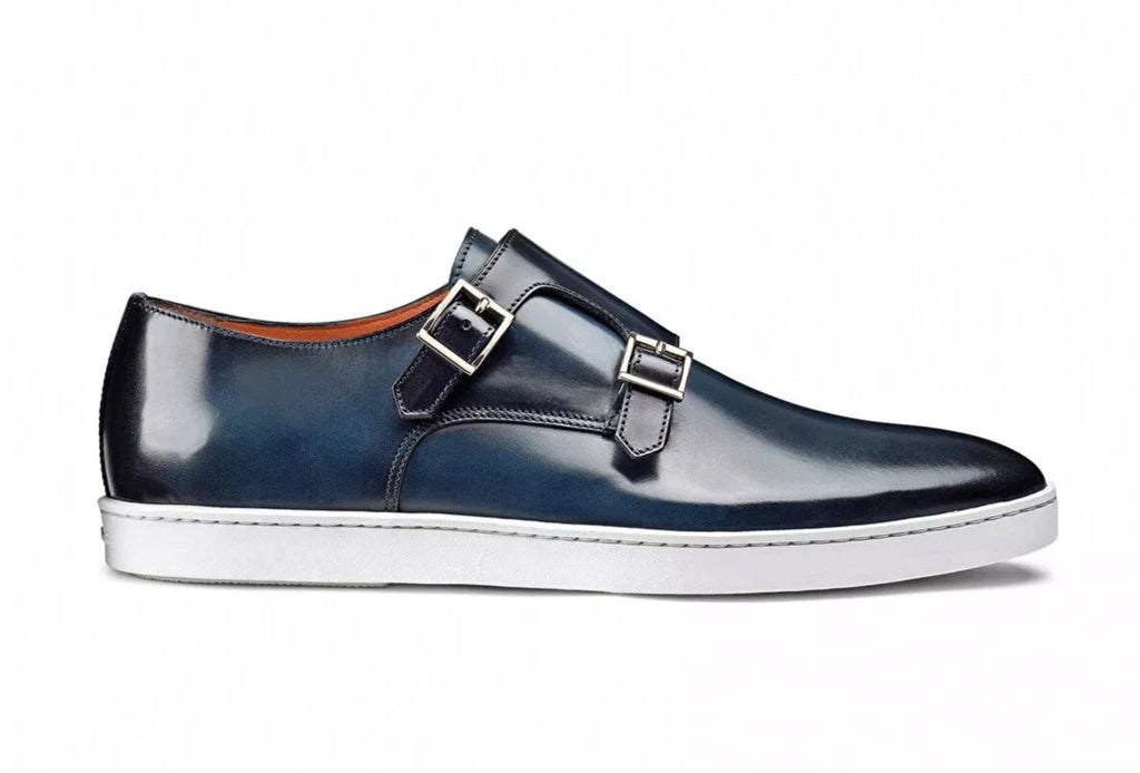 Double Monk Strap Leather Sneaker