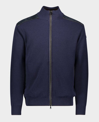 Full Zip Cardigan With Nylon Details