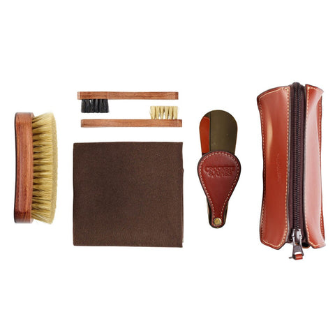 Leather Travel Shoe Care Kit