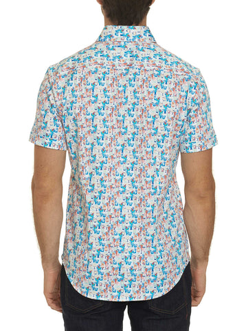 'Cocktails' Short Sleeve Sport Shirt