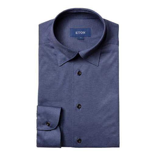 Jersey Shirt - Tone-in-Tone Buttons