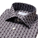 Slim Fit - Art Deco Geometric Print Shirt