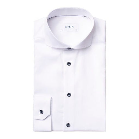 Solid Color Shirt With Contrasting Buttons