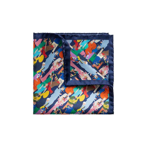 Party People Printed Pocket Square