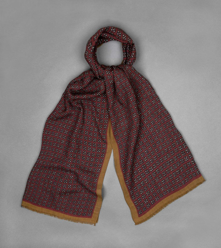 Miniature Square Medallion Print Scarf