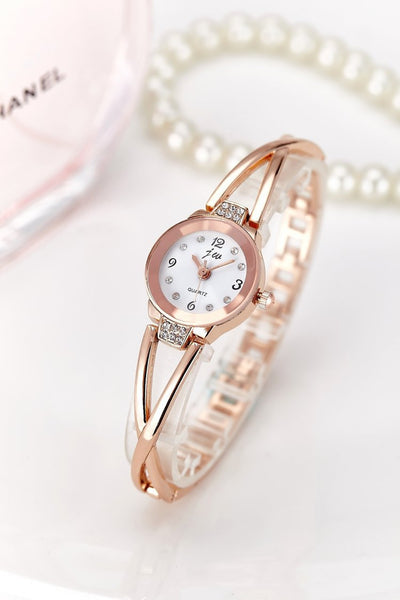 Women's Stainless Steel Rhinestone Quartz Watch