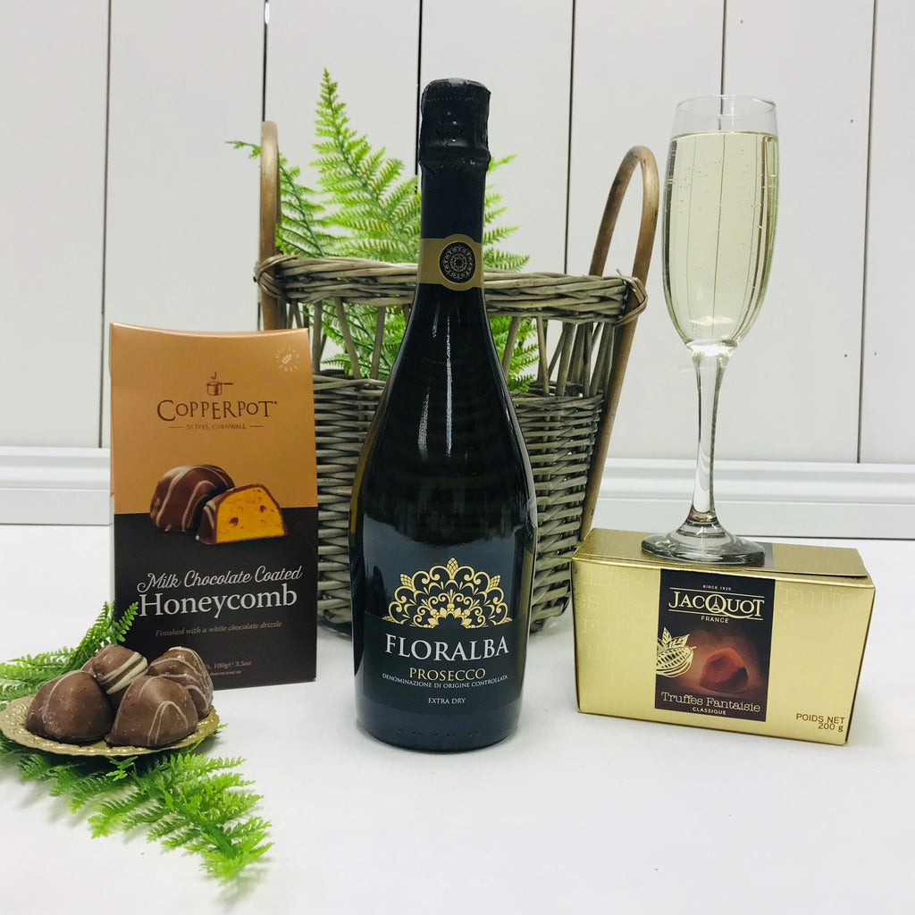 Prosecco & Chocolate Treats Gift Basket
