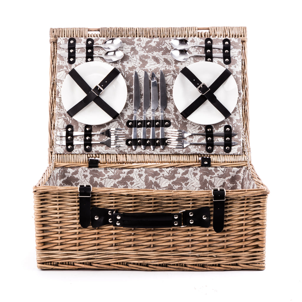 The Woodland Walk 4 Person Fully Fitted Picnic Hamper