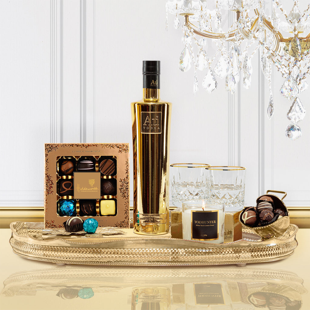 Luxury Au Gold Vodka Gift Box