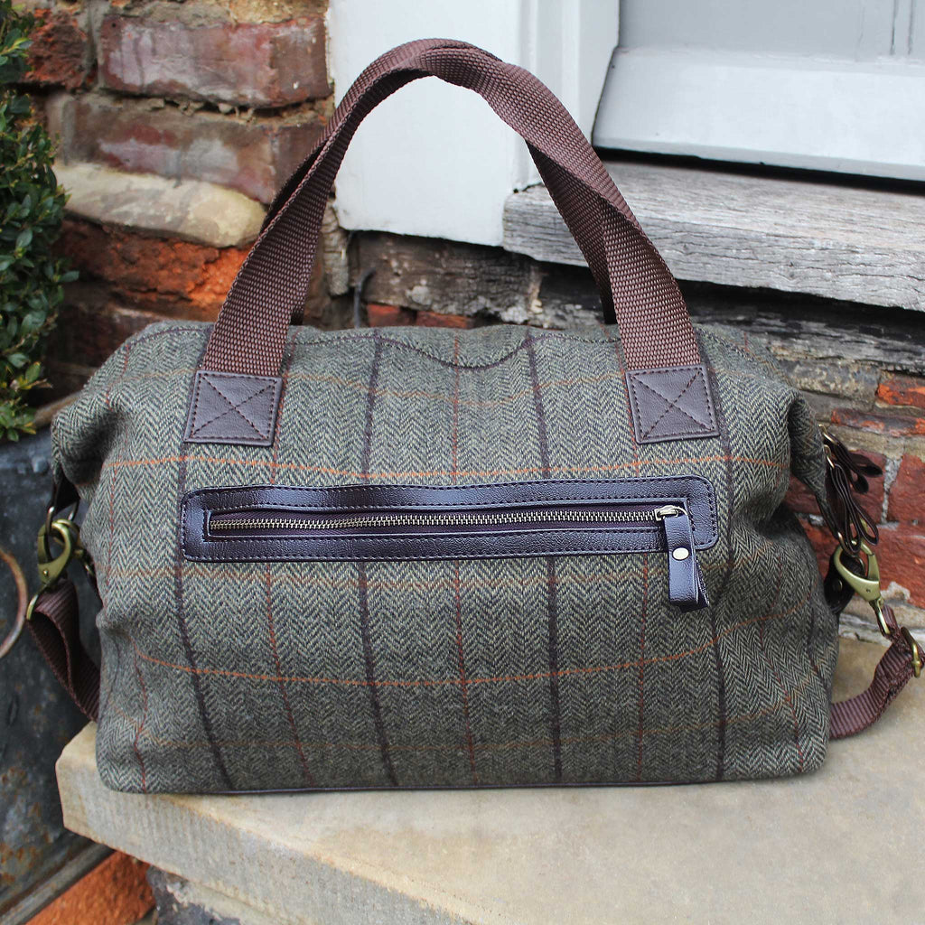Dark Tweed Overnighter