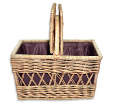 Todhunter Baker Basket with Purple Liner