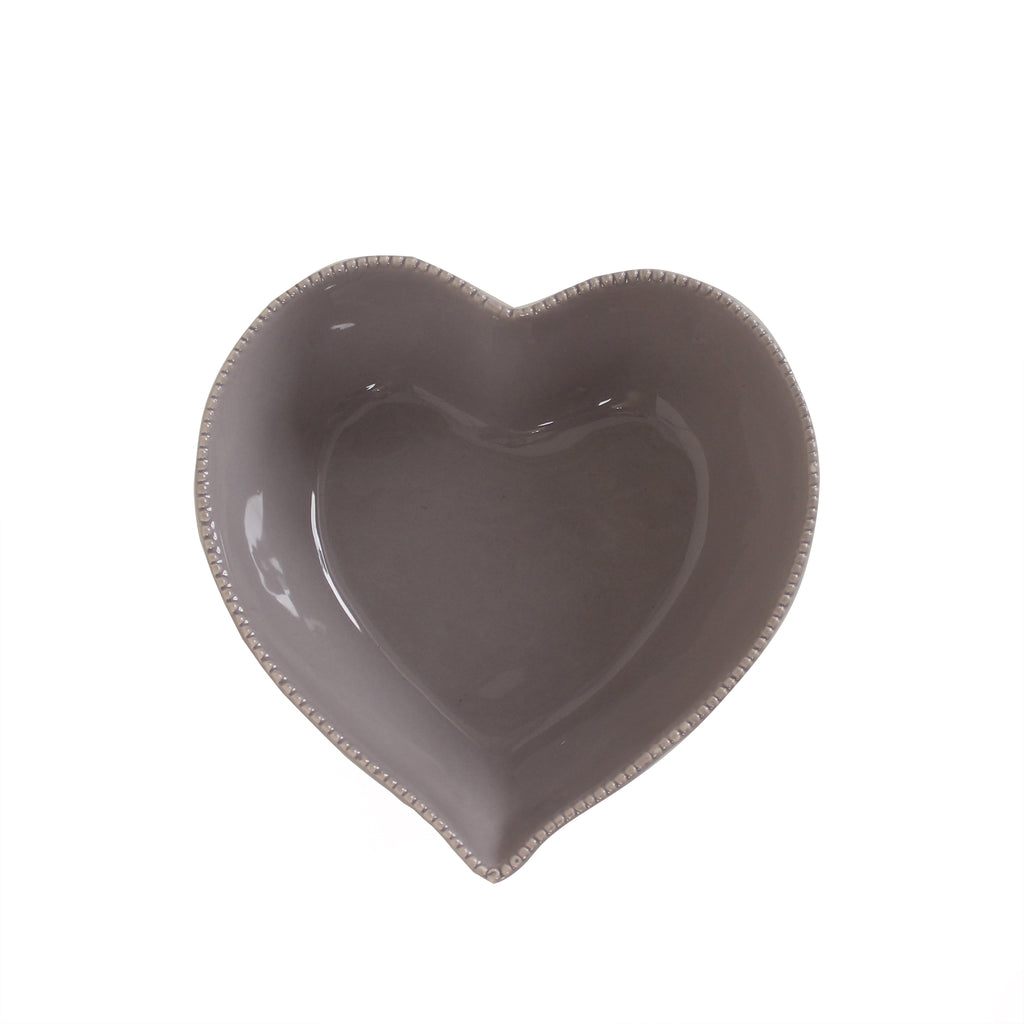 Grey Heart Bowl