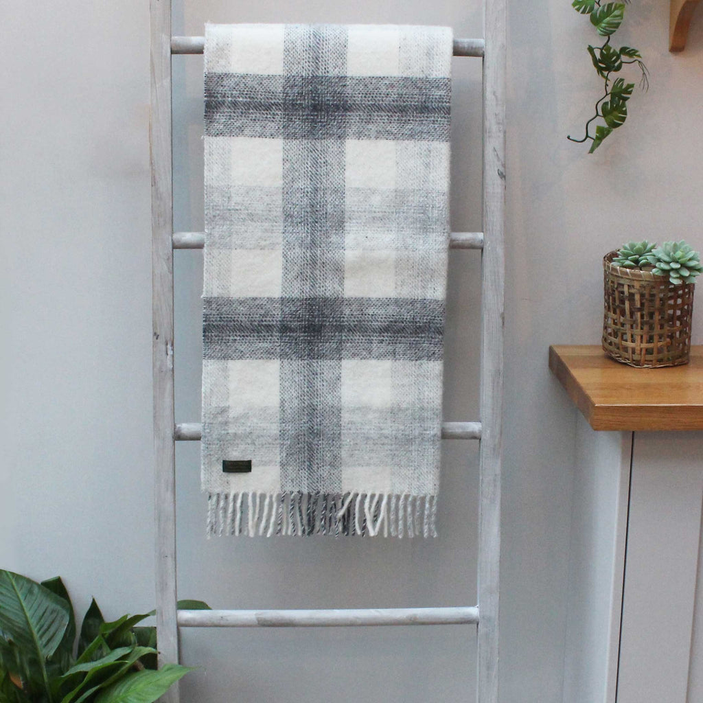 Meadow Check Slate Throw