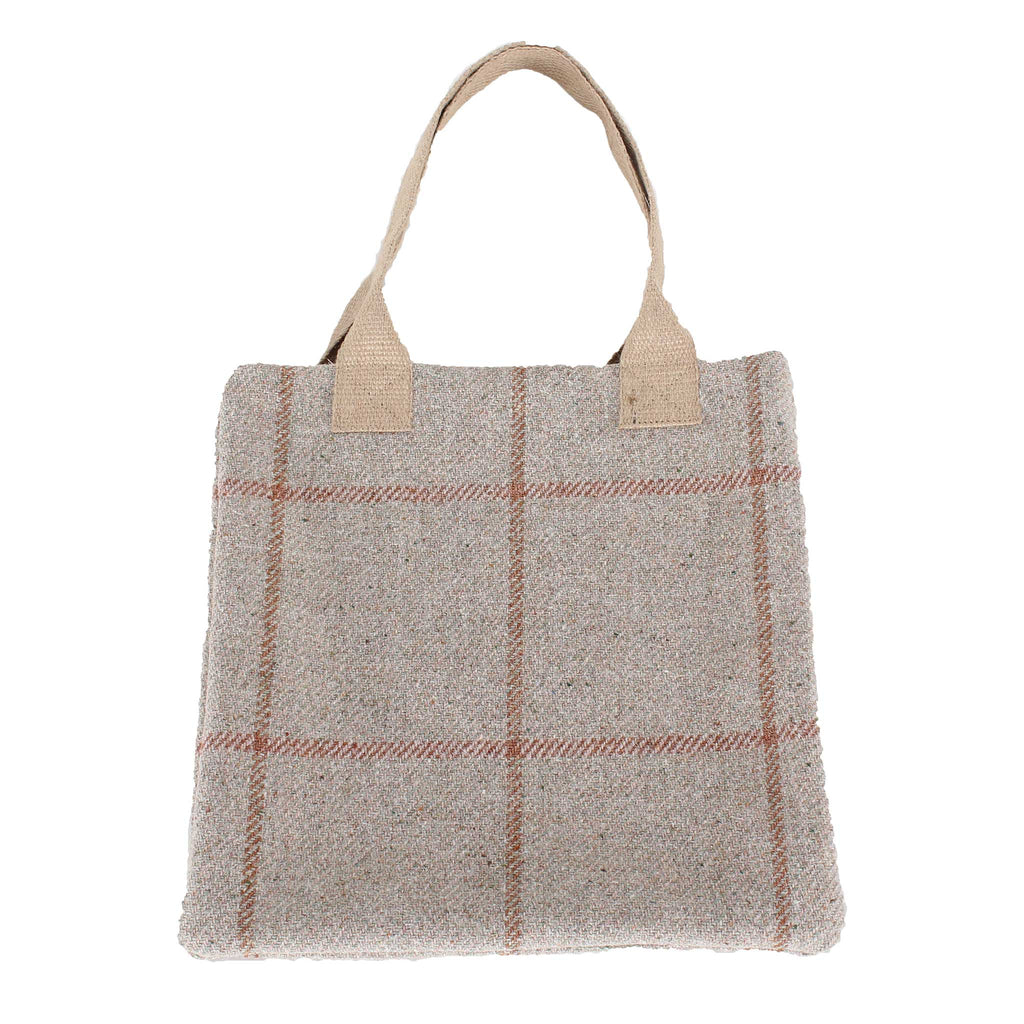 Rustic Wool Shopper Bag Oatmeal
