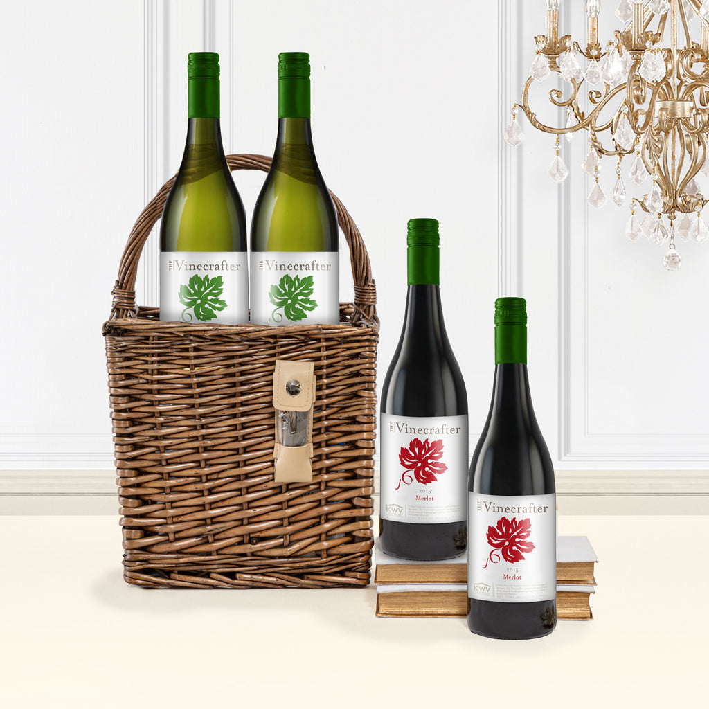 The Picnic Party Wine Carrier Basket