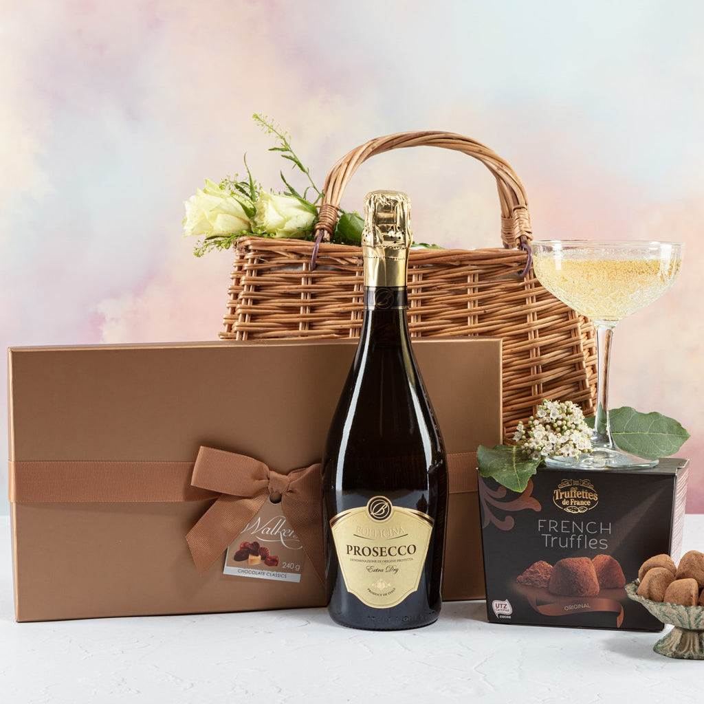 Prosecco and Chocolates Handbag Hamper