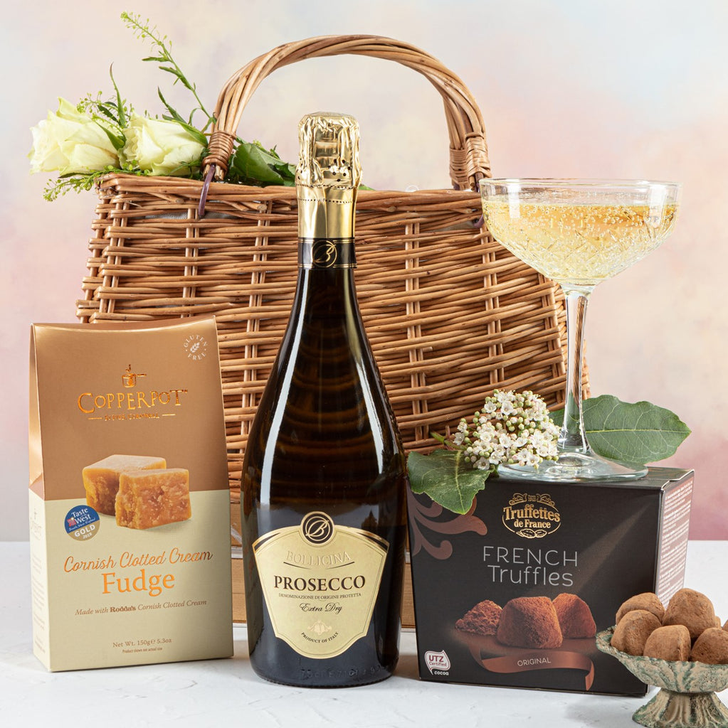 Prosecco and Sweet Treats Handbag Hamper