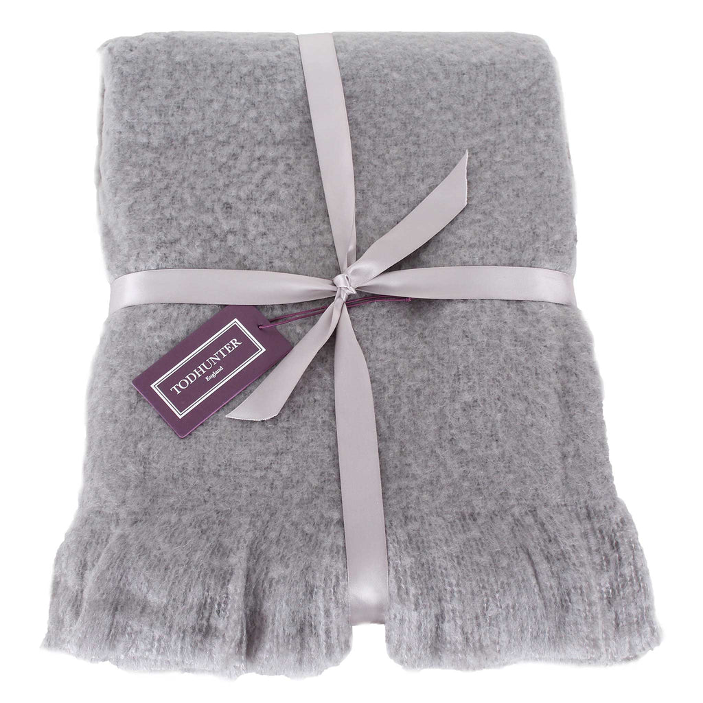 Super Soft Sasha Throw Dark Grey