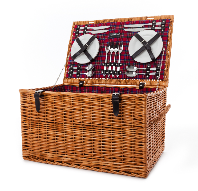 Todhunter Red Traditional Large Picnic Hamper