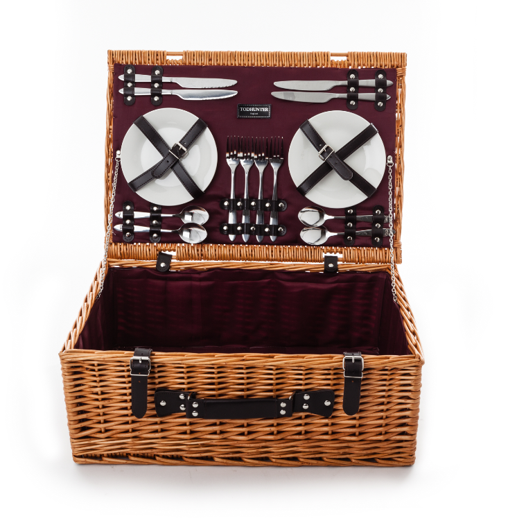Todhunter Purple Traditional Picnic Hamper