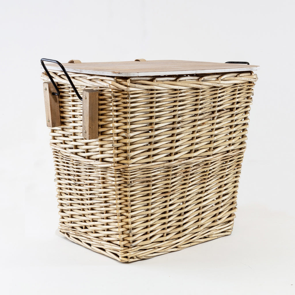 The Kingston Wooden Top Basket Large