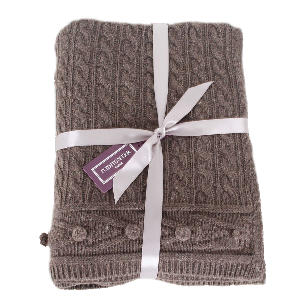 Chocolate Chunky Knit Throw