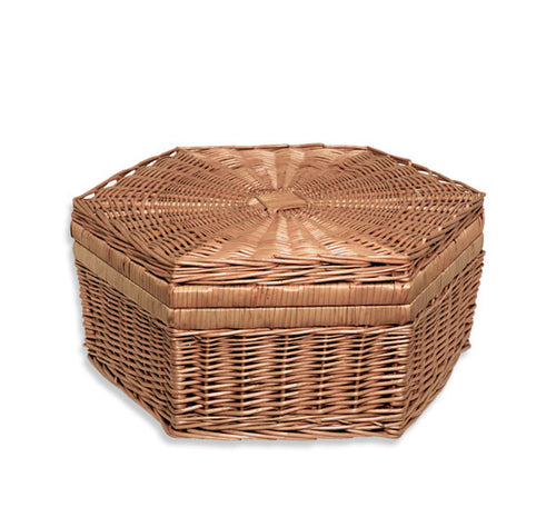 Todhunter Hat Basket Hexagon with Lid