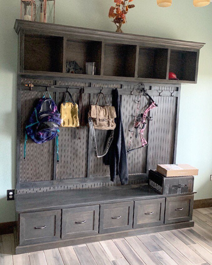Excellent The New York 5 Section Mudroom Bench Inzonedesignstudio Interior Chair Design Inzonedesignstudiocom