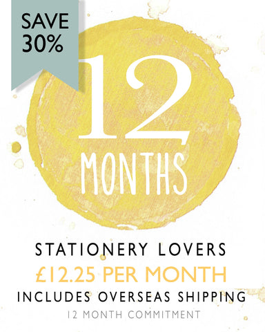 Stationery Lovers - 12 Monthly Subscription (Save 30%) Overseas