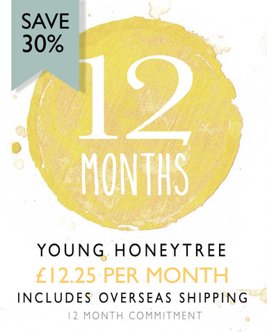 Young HoneyTree Children's Stationery - 12 Monthly Subscription (Save 30%) Overseas