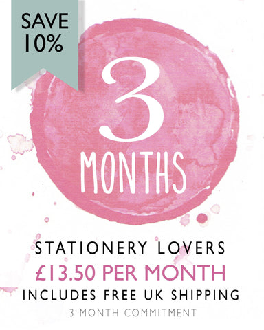 Stationery Lovers - 3 Month Subscription (Save 10%)