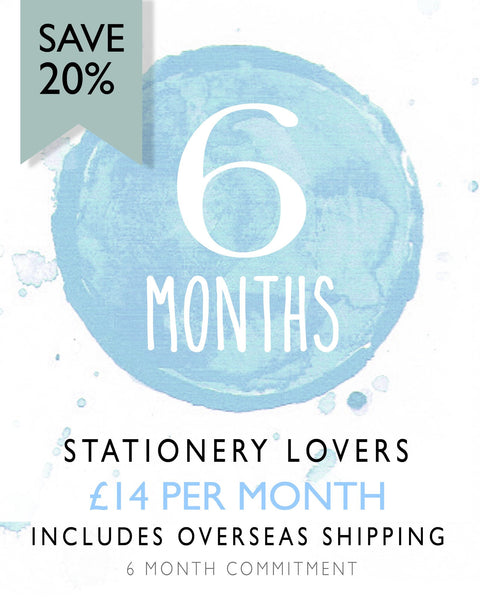 Stationery Lovers - 6 Month Subscription (Save 20%) Overseas