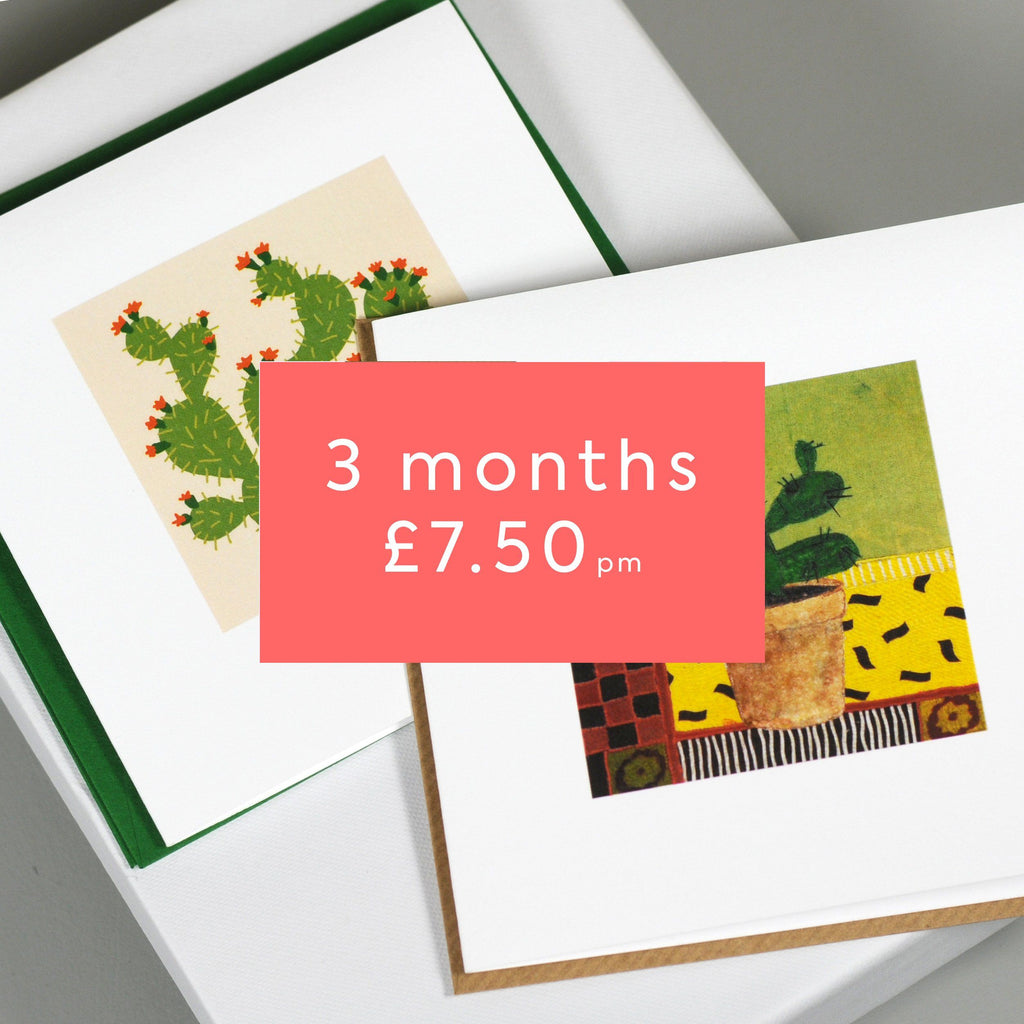 Greetings Card Post Box - 3 Month Subscription