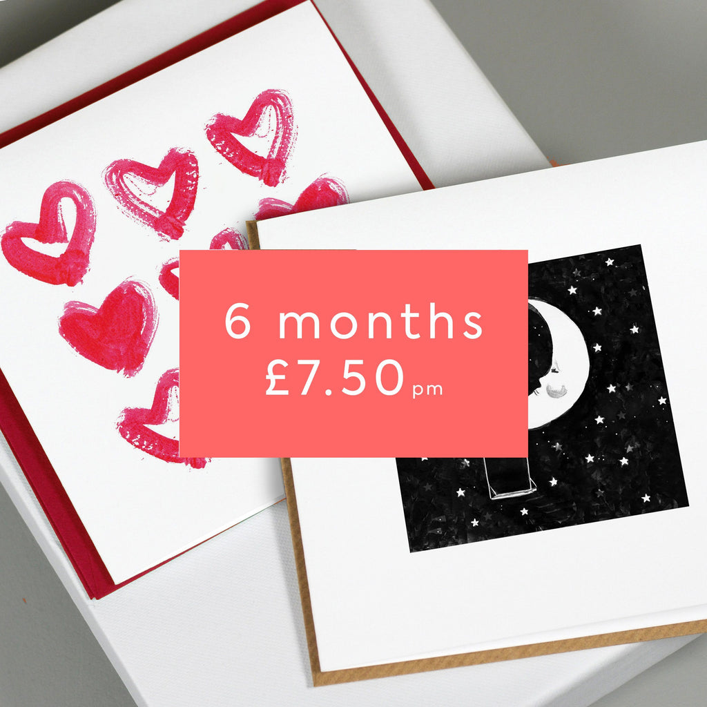 Greetings Card Post Box - 6 Month Subscription