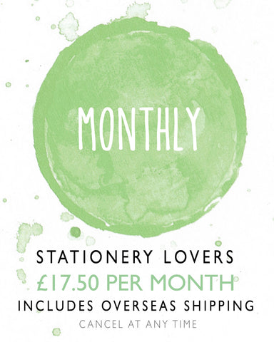 Stationery Lovers Monthly Subscription Overseas