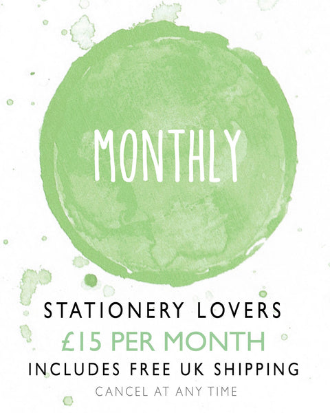 Stationery Lovers Monthly Subscription