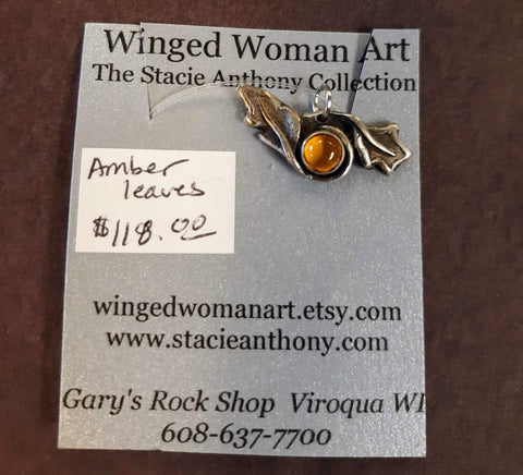 Pendant - Woodland Wings Amber