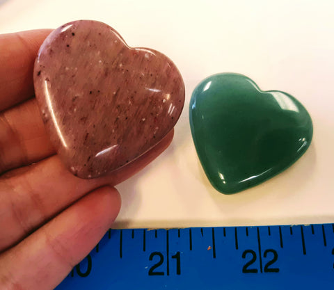 Heart carving - various stones