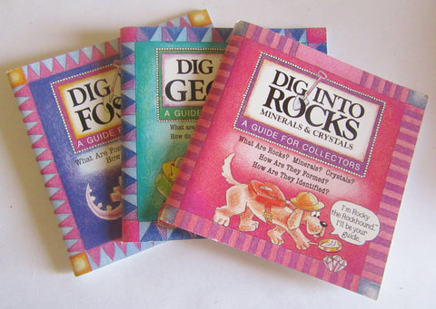 "Book ""Dig Into"" Rock, Fossil, Geodes Books"