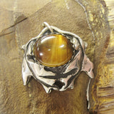 Leaves in Harmony, Tiger Eye Oak Pendant