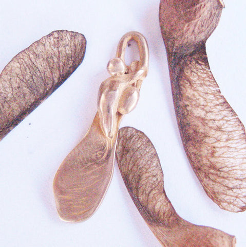 Small Bronze Samara Maple Seed