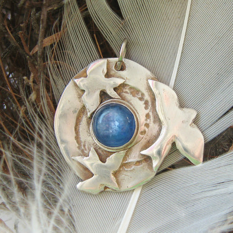 Eternity Blue Bird Pendant